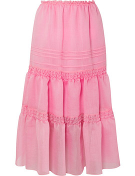Tiered Organza Midi Skirt by See By Chloé