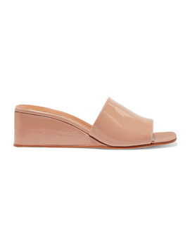 Sol Patent Leather Wedge Sandals by Loq