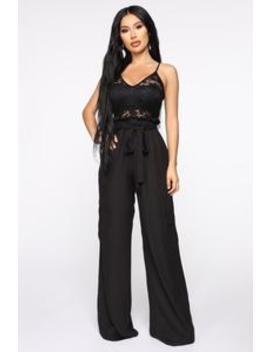 Cleo Cargo Jumpsuit   Black/Black by Fashion Nova