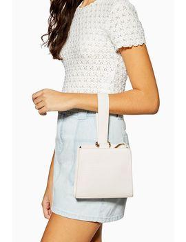 Swish White Ball Handle Cross Body Bag by Topshop