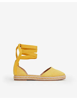 Ankle Wrap Espadrille Flats by Express
