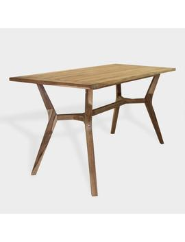 Teak Wood Nash Outdoor Counter Height Dining Table by World Market