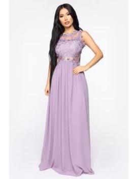 Halley Lace Maxi Dress   Lilac by Fashion Nova