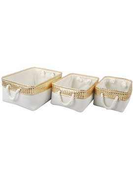 3 Piece Burlap Container Set by Bay Isle Home