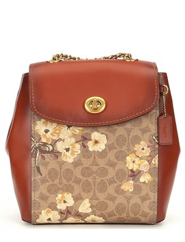 Signature Coated Canvas Prairie Floral Print Parker Backpack by Coach