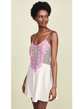 Showstopper Charmeuse Chemise With Lace by Flora Nikrooz