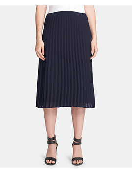 Petite Pleated Midi Skirt, Created For Macy's by Dkny