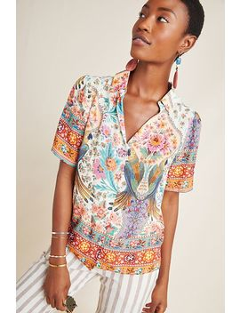 Farm Rio Maryanne Buttondown by Farm Rio For Anthropologie