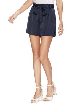 Satin Tie Waist Shorts by Vince Camuto