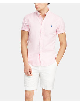 Men's Slim Fit Garment Dyed Twill Shirt by Polo Ralph Lauren
