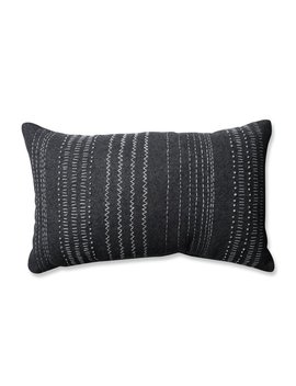 Tribal Stitches 100 Percents Cotton Lumbar Pillow by Pillow Perfect