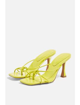 Rex Lime Knot Mules by Topshop
