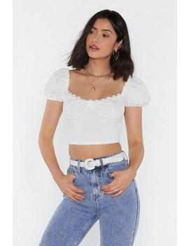 What's Cup Babe Square Neck Crop Top by Nasty Gal