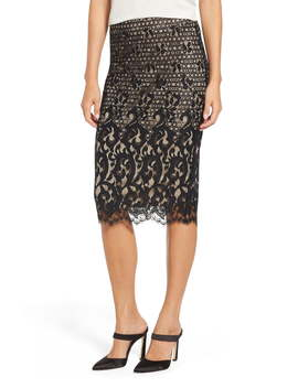 Lace Pencil Skirt by Tdc