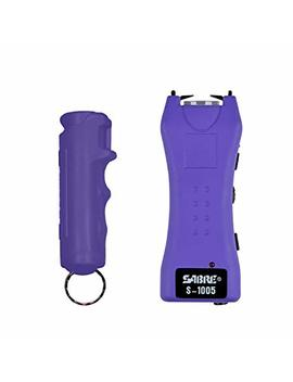 Sabre Pepper Spray & Stun Gun Self Defense Kit— Police Strength Red Pepper Spray, Plus A Compact, Stylish & Powerful Purple Stun Gun With Flashlight by Sabre