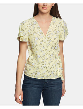 Blossom Printed Wrap Front Top by 1.State