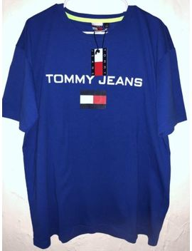 Tommy Jeans Royal Blue Logo Tee T Shirt Size Large Mens New! by Tommy Hilfiger