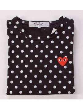 Hot 2019 Garcons Cdg Play Red Heart Comme Des Black Polka Dot T Shirt Short by Handmade