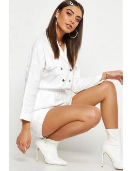 Pastel Utility Pocket Woven Playsuit by Boohoo