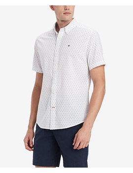 Men's Custom Fit Geo Print Shirt, Created For Macy's by Tommy Hilfiger