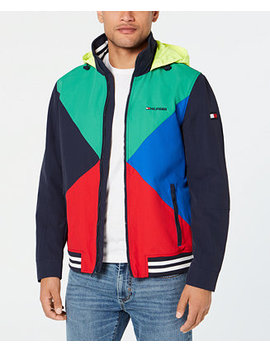 Men's Gunwhale Colorblocked Hooded Yacht Jacket, Created For Macy's by Tommy Hilfiger