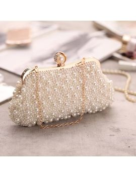 Moonflower   Faux Pearl Evening Clutch by Moonflower
