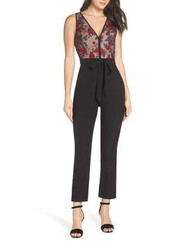 Floral Embroidered Jumpsuit by Harlyn