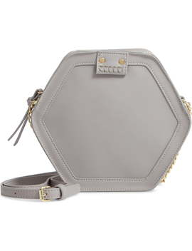 Hexagon Faux Leather Crossbody Bag by Leith