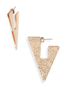 Sparkle Triangle Earrings by Stella + Ruby