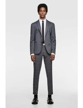 Plaid Stretch Knit Pants  Tailored Pants Man by Zara