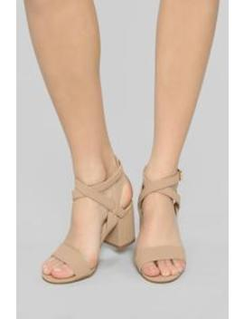 Missing You Heeled Sandals   Tan by Fashion Nova