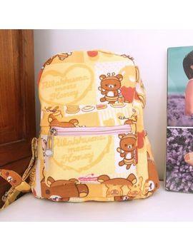 "Rilakumma Bear 8.5"" Adult Kids Backpack Shoulder Bag  Bags Anime by Qiucool"