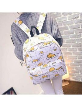 Cartoon Gudetama Lots Egg Mix Backpack Shoulder Bag Laptop Bags Gift by Unbranded