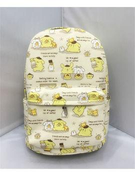 "Pom Pom Purin  Canvas Backpack Shoulder Bag 13"" Travelling Storage Bags by Pom Pom Purin"