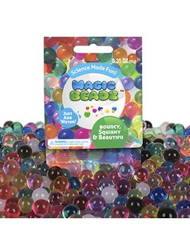 Magic Beadz   Jelly Water Beads Grow Many Times Original Size   Fun For All Ages   Party Favor Size   15 Individual Packs by Magic Beadz