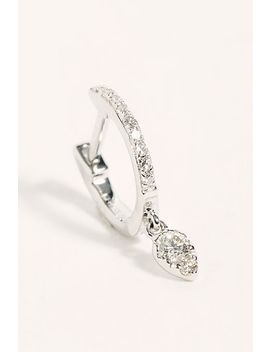 14k Diamond Mini Huggie Hoop Single Earring by Ef Collection