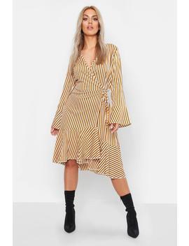 Plus Flare Stripe Midi Dress by Boohoo