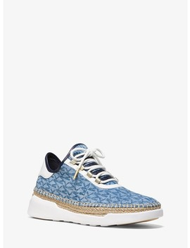 Finch Logo Denim Lace Up Sneaker by Michael Michael Kors