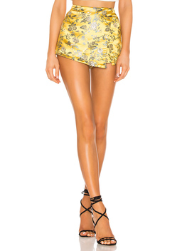 Alana Floral Brocade Skort by Superdown
