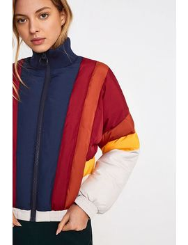 Uo Colourblock Panelled Puffer Jacket by Urban Outfitters
