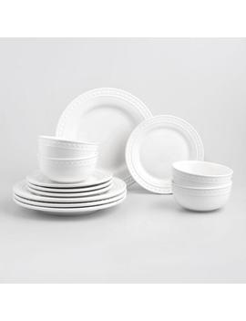 White Nantucket 12 Piece Dinnerware Set by World Market