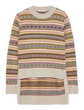 Intarsia Wool Sweater by Stella Mc Cartney