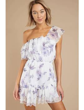 Marion White Multi Off Shoulder Floral Skater Dress by Tobi