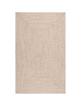 Bromsgrove Hand Braided Tan Indoor/Outdoor Area Rug by Wayfair