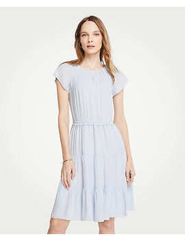 Petite Tiered Flutter Sleeve Dress by Ann Taylor
