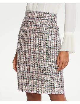Petite Tweed Wrap Pencil Skirt by Ann Taylor