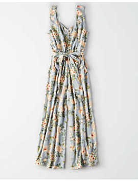 Ae Floral Culotte Jumpsuit by American Eagle Outfitters