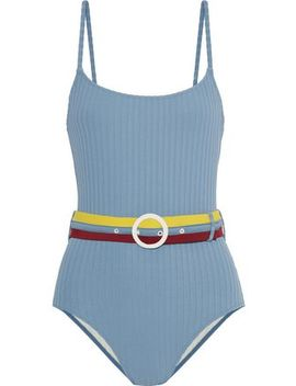 The Nina Belted Ribbed Swimsuit by Solid & Striped