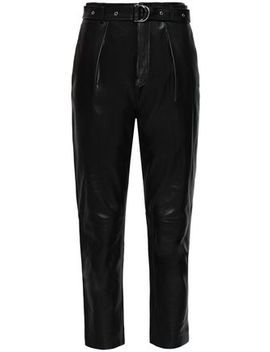 Ceana Cropped Leather Tapered Pants by Iro