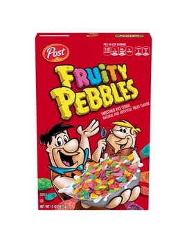 Fruity Pebbles Breakfast Cereal   15oz   Post by 15oz
